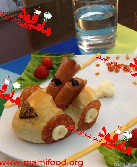تزئین ساندویچ و فست فود